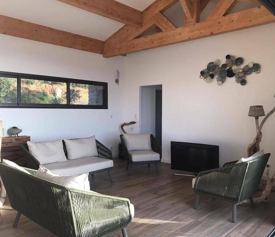 location villa proche Porto Vecchio-salon